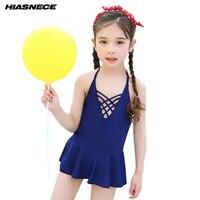 0831f08b9e138 Girls Solid One Piece Skirt Swimsuit 1 10 Year Lovely Little Toddler Girls  Bathing Suit Children