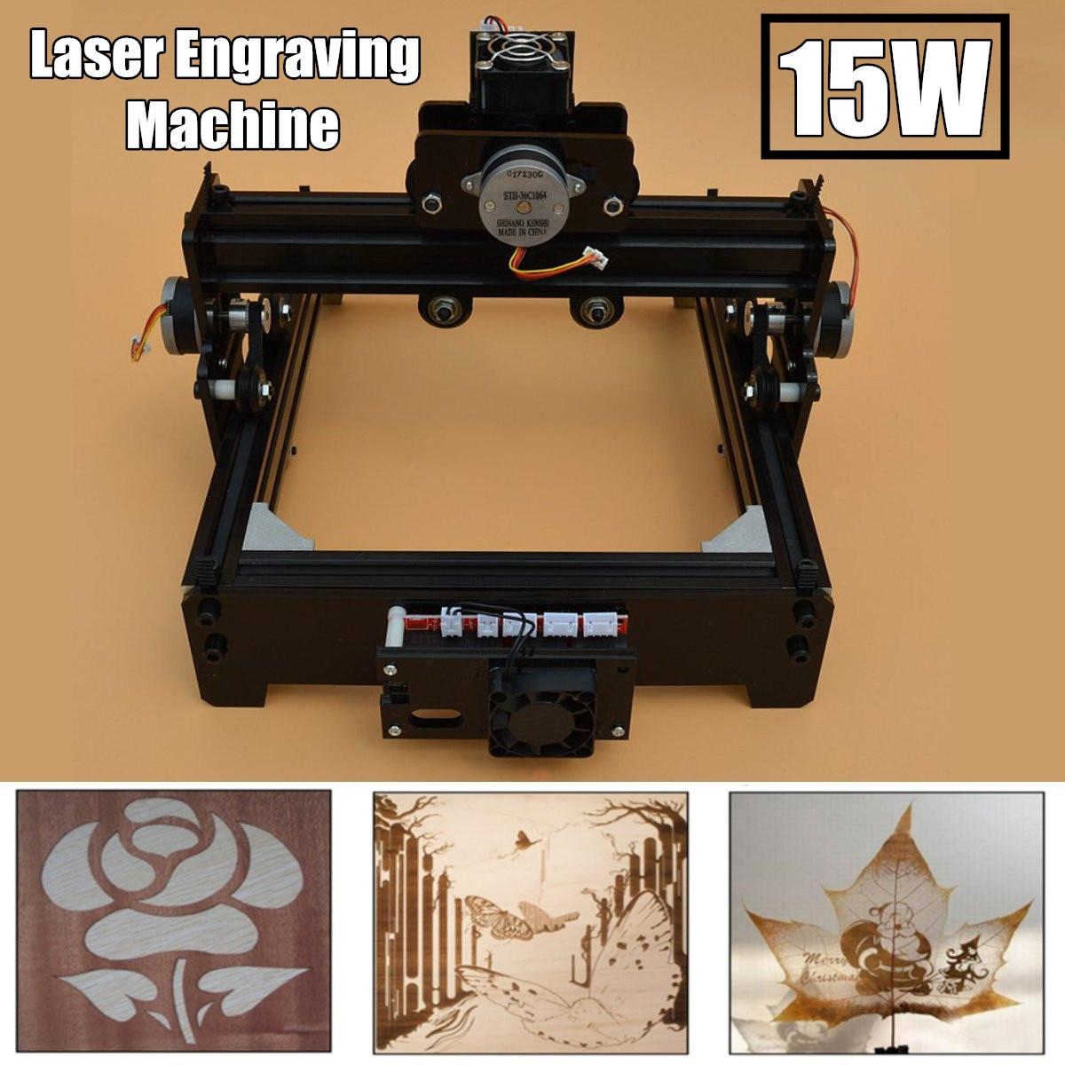 15 W bricolage Mini CNC Laser gravure Machine Laser gravure bois routeur métal marquage gravure 2018 meilleurs jouets avancés nouveauté