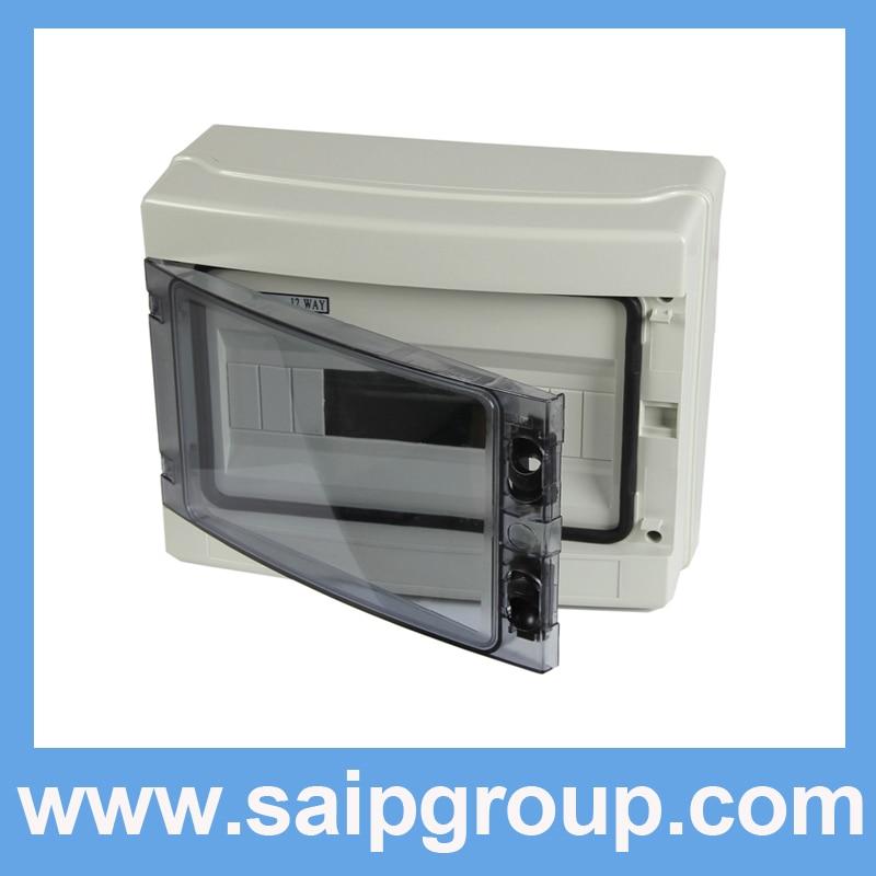 цена на 2014 Saip HA Series IP65 12Ways Plastic Power Electrical Distribution Box SHA-12WAYS