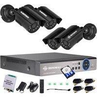 Defeway 4CH 720 P Выход DVR Водонепроницаемый 1200TVL Ночное видение Камера CCTV Системы наблюдения Наборы 1 ТБ экстренной помощи Батарея