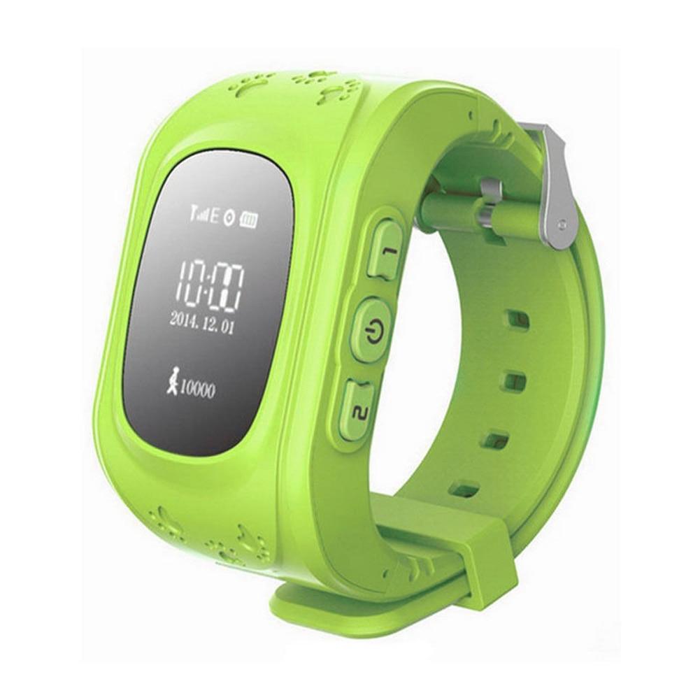 imágenes para Gps tracker reloj smart watch anti-desaparecen niños smartwatch, para android y iphone (verde)