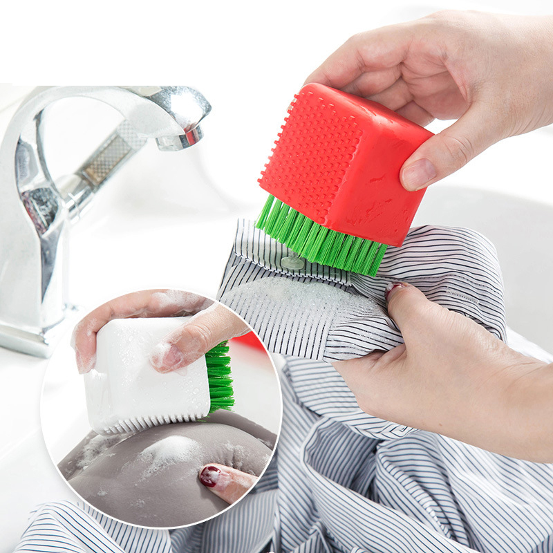 Silicone Cleaning brush Dual-use Brush Potted Shape Household Laundry Brush Clothes Shoes Floor Washing Silicone Scrubbing Brush