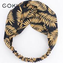 COKK Leaf Headbands For Women Girls Hair Band Twisted Knotted Turban Headband Girl Headwrap Hair Accessories Hair Scarf(China)