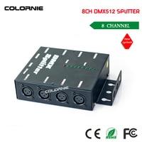 Free Shipping HOT Sale DMX 8 Channel DMX Splitter DMX512 Light Stage Lights Signal Amplifier Splitter