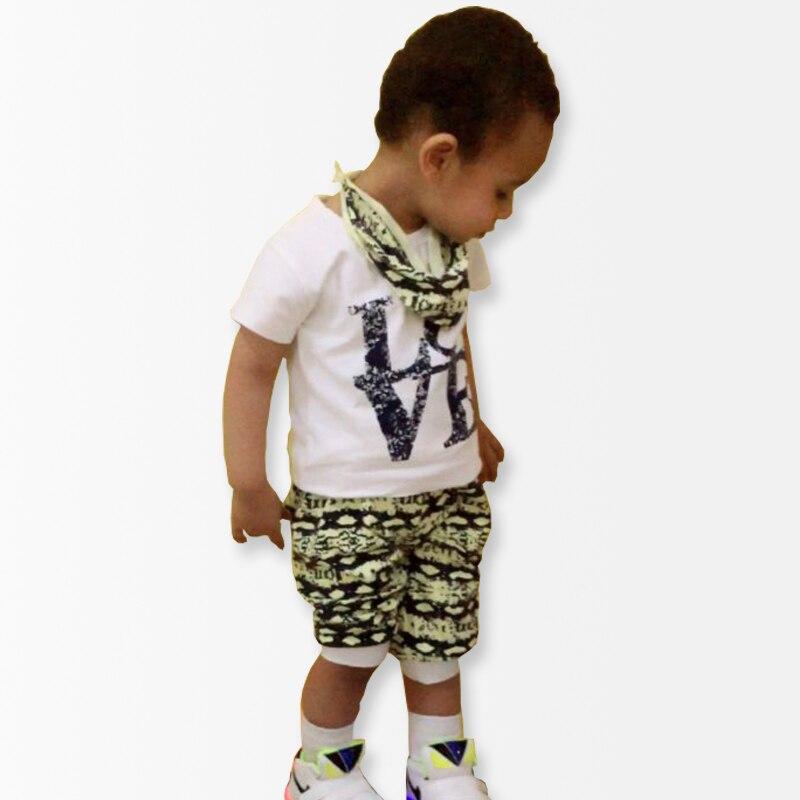 Newborn 2016 Toddler Baby Boy Clothing Sets Summer Cotton