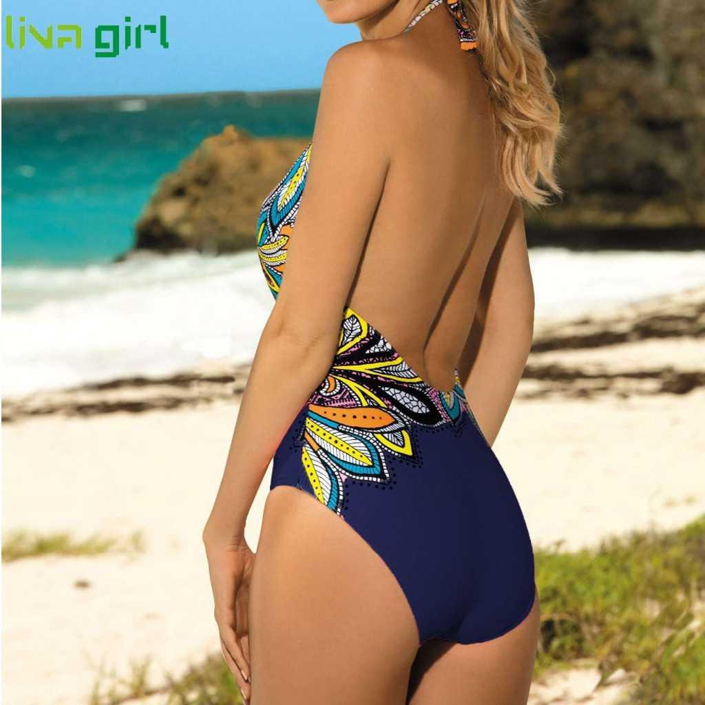 Liva لباس بحر للفتيات النساء واحدة قطعة الدعاوى جديد مبطن الفتيات السباحة ملابس السباحة 2019 حار مجموعة الشاطئ البطن التحكم ملابس السباحة 09