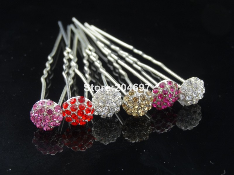 Feelgood 200pcs lot New Colorful Disco Ball Alloy Crystal Rhinestone  Hairpins Hair Jewelry Wedding Accessories Wholesale-in Hair Jewelry from  Jewelry ... 8f0be2f04a2b