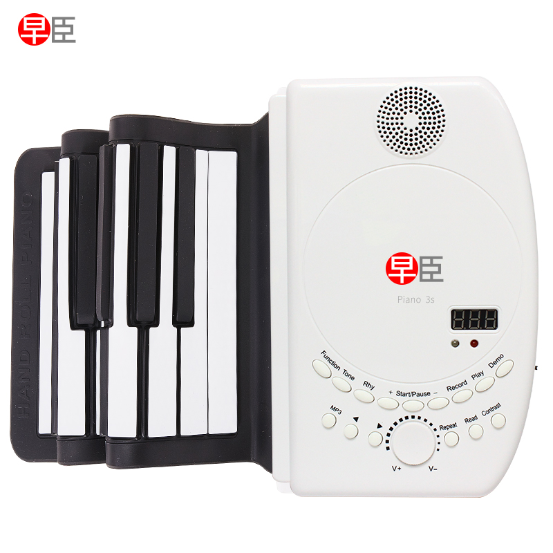 88 key piano keyboard soft portable midi digital controller synthesizer roll up piano  Beginner electronic Musical Instruments-5