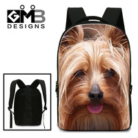 Dispalang Cute Silky Terrier Dog Print School Bags For Teenagers Factory Direct Wholesale Pet Dog Laptop
