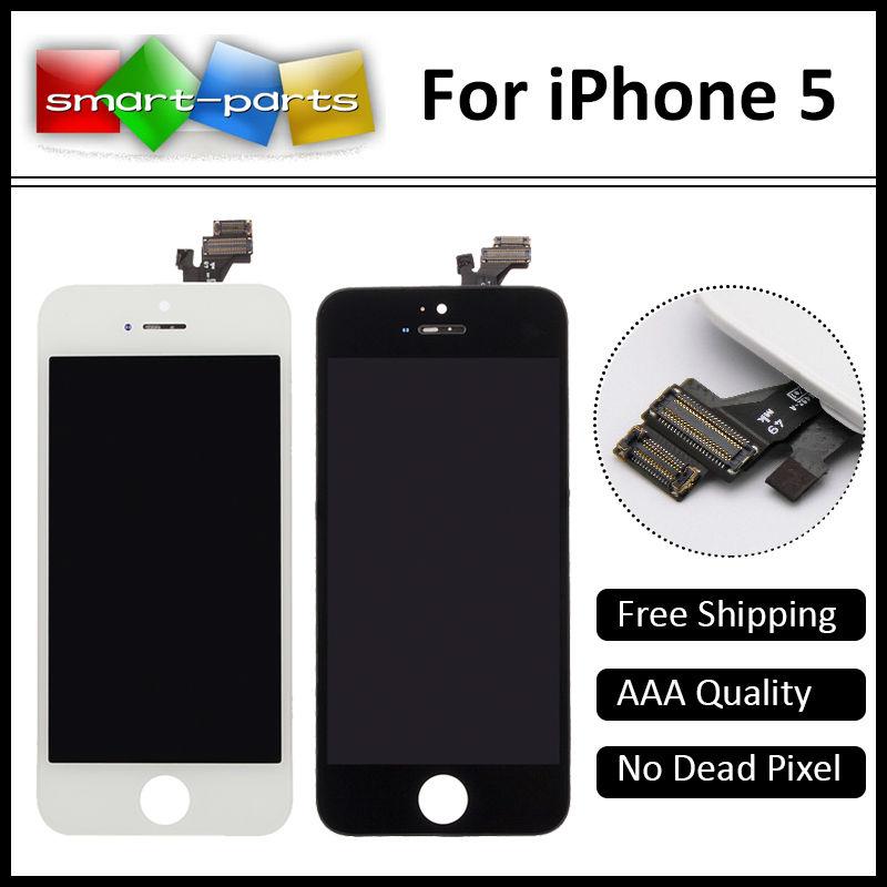 Prix pour 10 PCS/Lot AAA Qualité! pas de Pixels Morts LCD Pour iPhone 5 LCD Écran D'affichage Avec Écran Tactile Digitizer Remplacement Assemblée Pièces