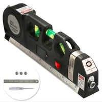 Mehrzweck Level Laser Horizon Vertical Maßband 8FT Aligner Blasen Lineal Werkzeug für Hängen Bilder Verlegung Bodenbelag