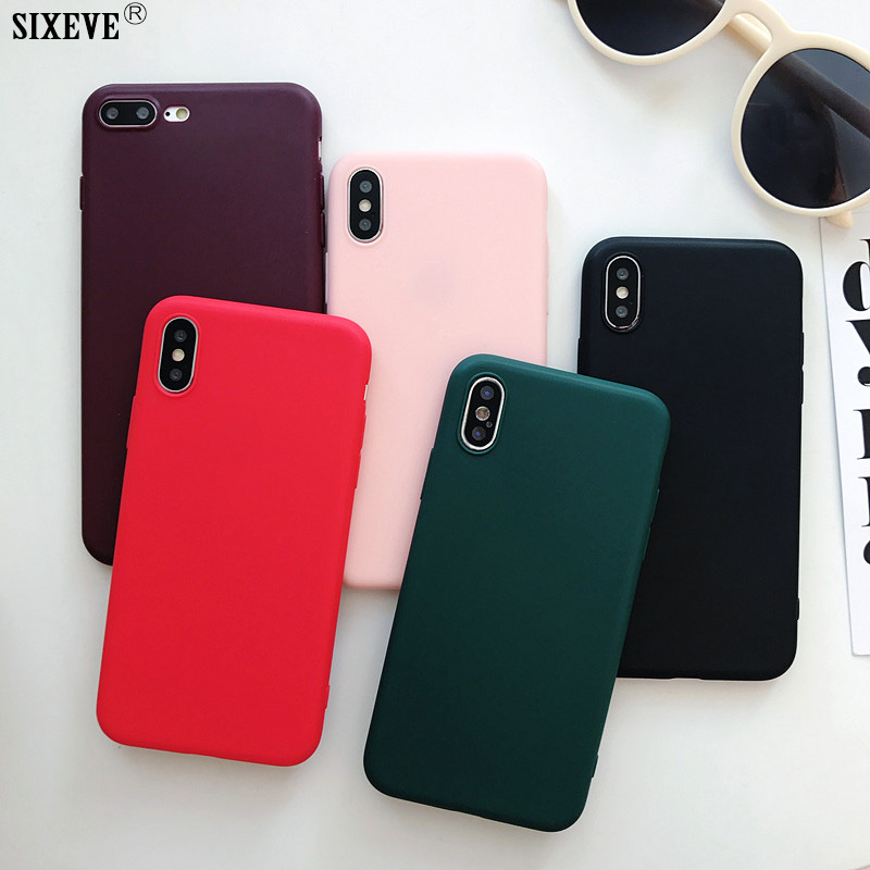 Soft Silicone Case For IPhone XS Max X XR IPhone 6 S 6S 5 5S 5SE 7 8 Plus 6Plus 7Plus 8Plus Ultra Thin TPU Cell Phone Back Cover