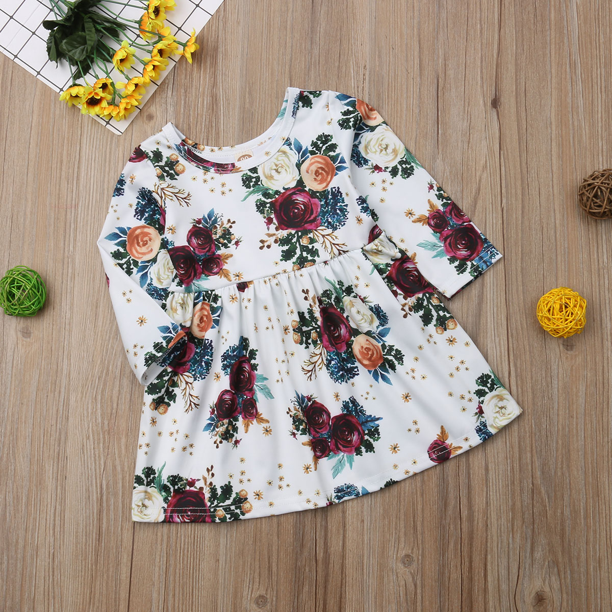 Pudcoco Summer Toddler Infant Baby Kids Girl Clothes Princess Floral Formal Dress Wedding Pageant 2019 in Dresses from Mother Kids
