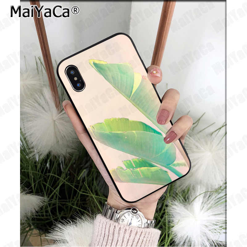 f2312606b031 MaiYaCa Tropical Plants Cactus Banana Leaves Coque Shell Phone Case for  Apple iPhone 8 7 6 6S Plus X 5 5S SE XS XR XS MAX Cover