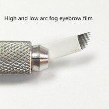 100 Pcs Korean Handmade Fog Eyebrow Needle Film Fog Velvet Eyebrow Needle Piece High And Low Arc Easy Color Needle
