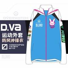 2017 OW Game Cosplay Costume D.VA Coat D VA Jackets women Sport coat Windproof Pizex Zip Up  High Quality Hoodie Coat
