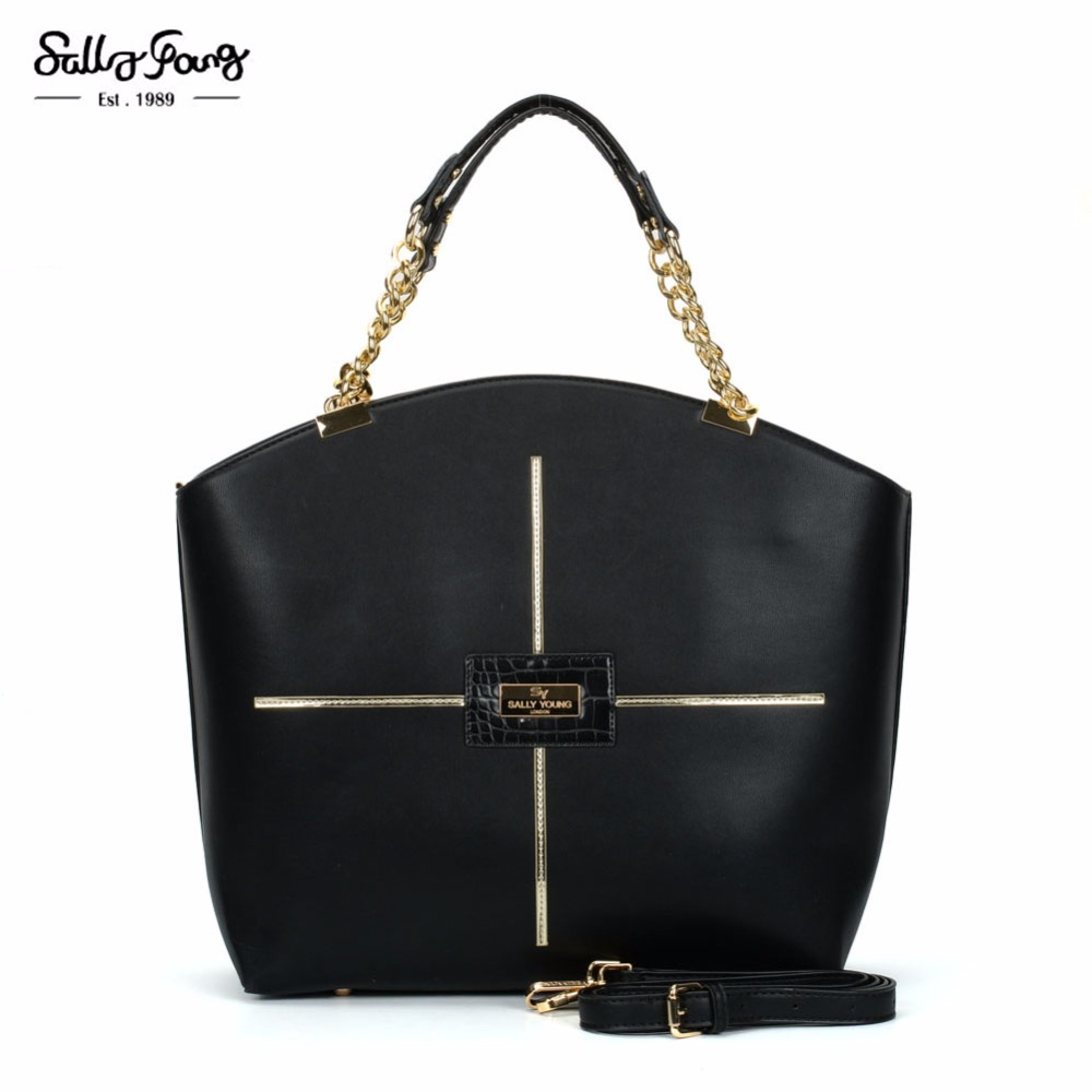 все цены на  2017 Sally Young Internation Brand Trapeze Women Patchwork Fashion Bag Cross Sequined Lady Shoulder Handbags 5 Color SY2107  онлайн