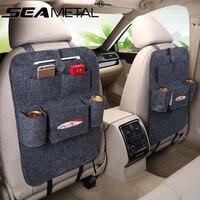 1PC Car Storage Bag Back Seat Box Organizer Holder Cover Backseat Organizer Pockets For Books Auto