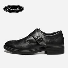 size 36~49 full grain leather men dress shoes fashion comfortable Hecrafted 2017 men shoes #8829