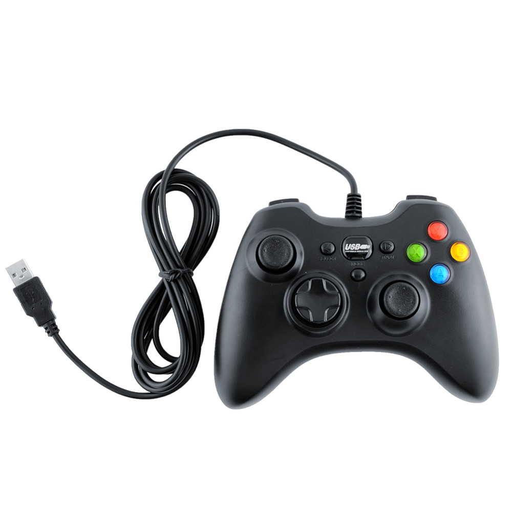 2015 USB Wired Cord Gaming Controller Joystick Computer Laptop Black N
