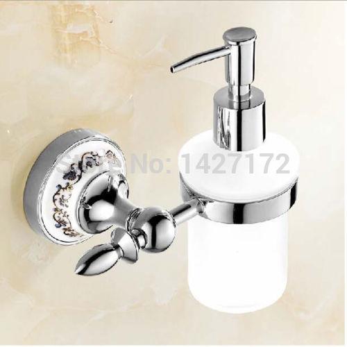 Modern Bathroom Soap Dispenser: Modern New Wall Mounted Chrome Finish Bathroom Ceramic