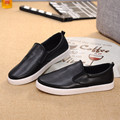 New Spring Autumn Women Casual Shoes Solid Black and White Soft Shoes Waterproof PU Leather Flats Women Loafers HSE14