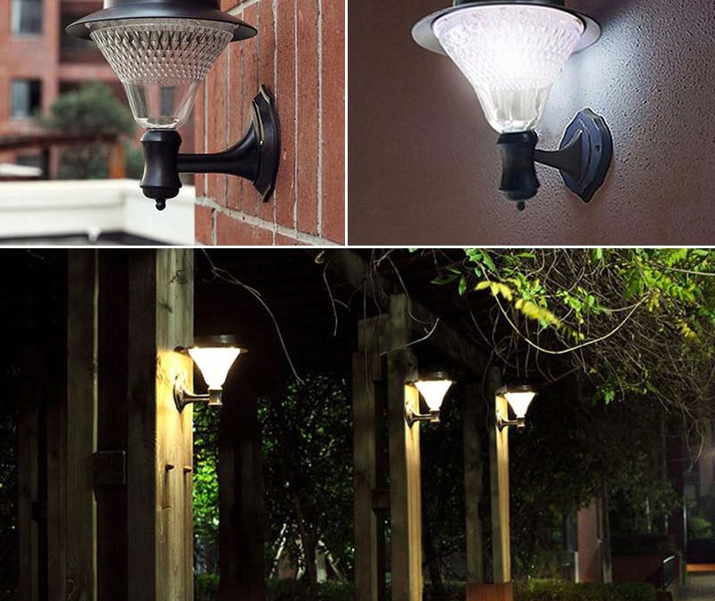 jardim arandela lâmpadas sensor de rua ao
