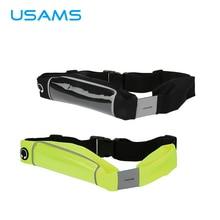 USAMS 5.5 «Регулируемый Спорт бег Водонепроницаемый чехол для телефона Талия нейлон ой сумка для мобильного телефона iPhone 6S 6 5S 5 Samsung HTC