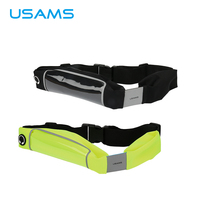 USAMS Adjustable Sport Running Waterproof Phone Case Waist Nylon Pouch Mobile Phone Bag For IPhone 6s