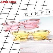 2018 brand design new European American cat eye glasses sunglasses ladies retro transparent box colorful