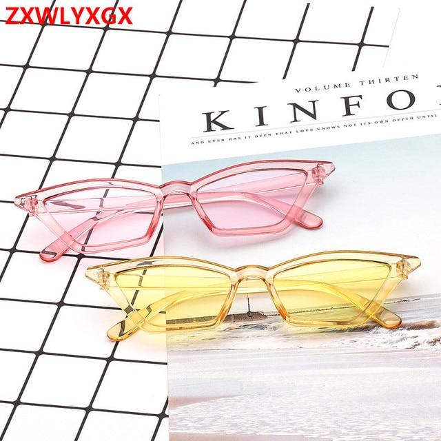 2018 brand design new European American cat eye glasses sunglasses ladies retro sunglasses transparent box colorful glasses