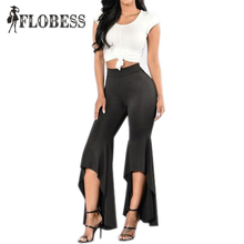 2016 Spring Autumn Elegant Bell Bottom Slim Pants Newest Women Elastic Wasit Flare Pants Slim Long Trousers Pants Plus Size(China)