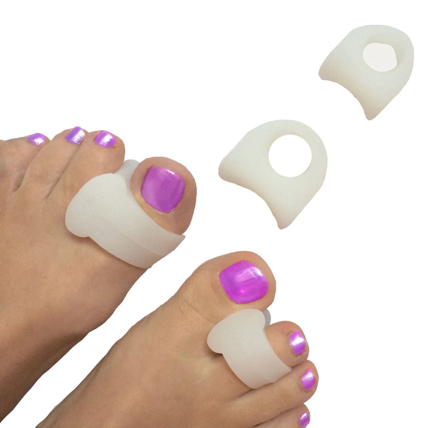 2 Pcs Toe Separator Soft Gel Hammer Claw Toe Pad Foot Care Cramp Hallux Valgus Hallux braces Foot Pain Relax Cushion  Z20401
