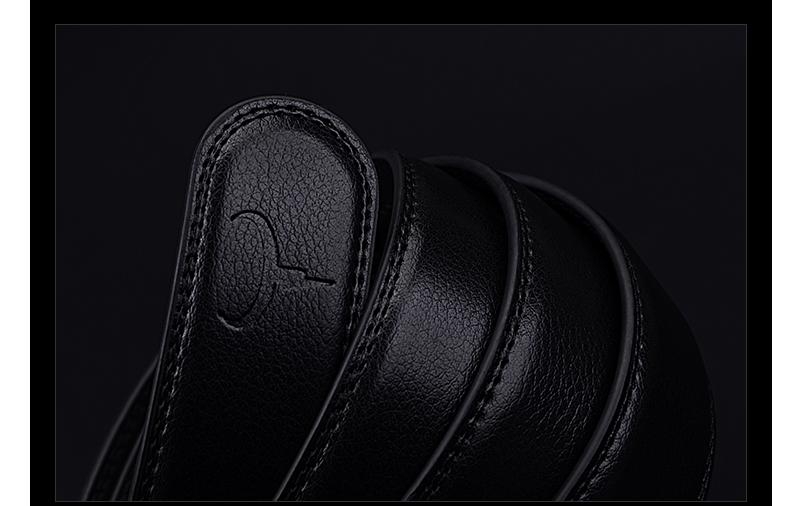 حزام COWATHER  جلد طبيعي للرجال ذو جودة عالية 14