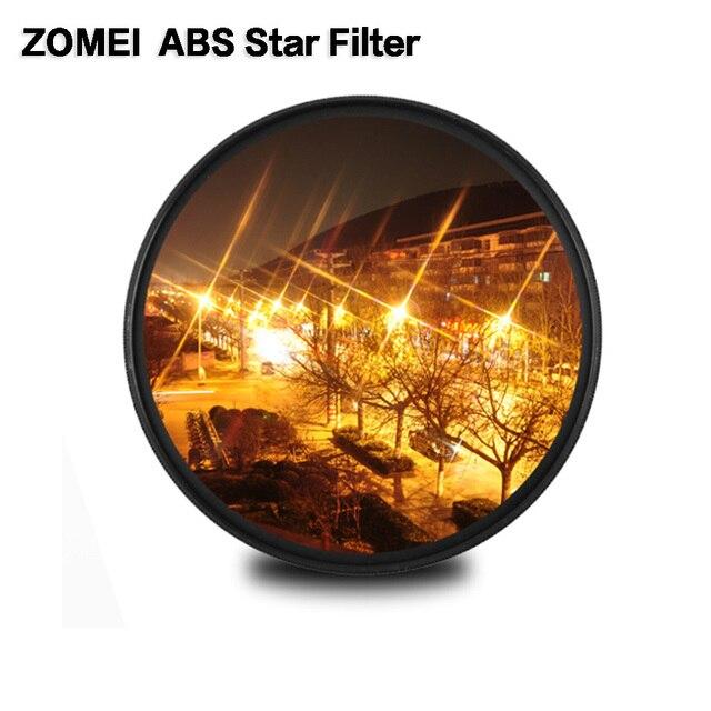 """Zomei ABS אופטי זכוכית מדעך כוכב קו כוכב מסנן 4/6/8 נקודת מצלמה Filtro Slim 49/ 52/58/67/72/77/82 מ""""מ עבור Canon Nikon Sony"""