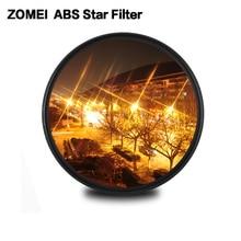 Zomei abs 광학 유리 페이더 스타 라인 스타 필터 4/6/8 포인트 카메라 filtro slim 49/52/58/67/72/77/82mm canon nikon sony