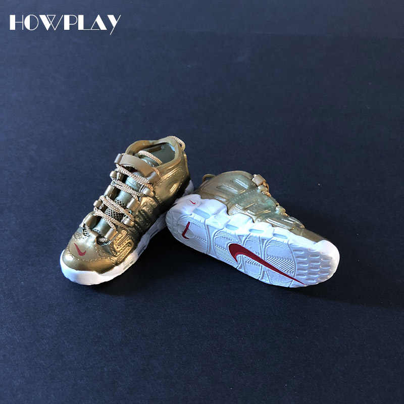 finest selection d55eb d90aa Howplay AIR UPTEMPO model sneaker keychain 3D mini basketball shoes model  backpack pendant keyring creative gift