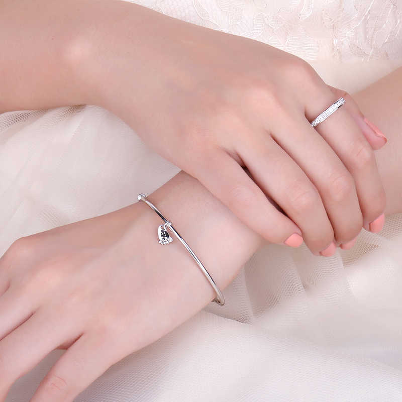 Foot Love สร้อยข้อมือเงินสร้อยข้อมือ Charm สร้อยข้อมือกำไลข้อมือ 925 กำไลเงินสำหรับผู้หญิง Silver 925 ทำ