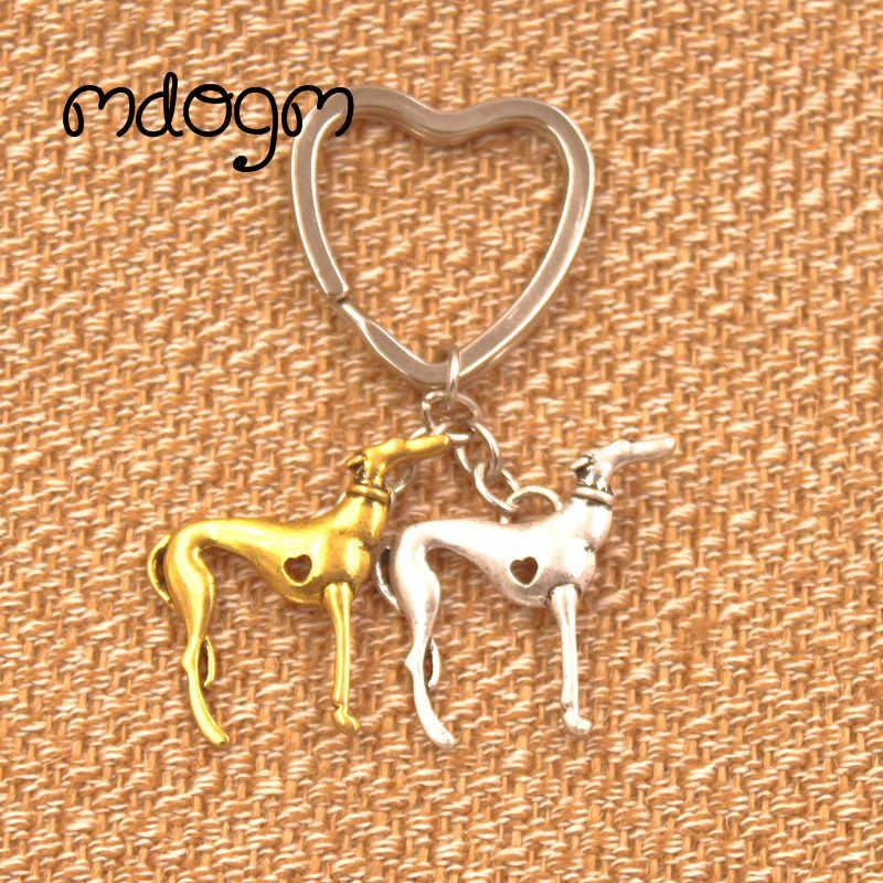 2019 новый милый собака породы борзая сумка для животных Сумки подвеска ручной работы брелок для сумки автомобиля Для женщин мужское кольцо для ключей Love Jewelry K137