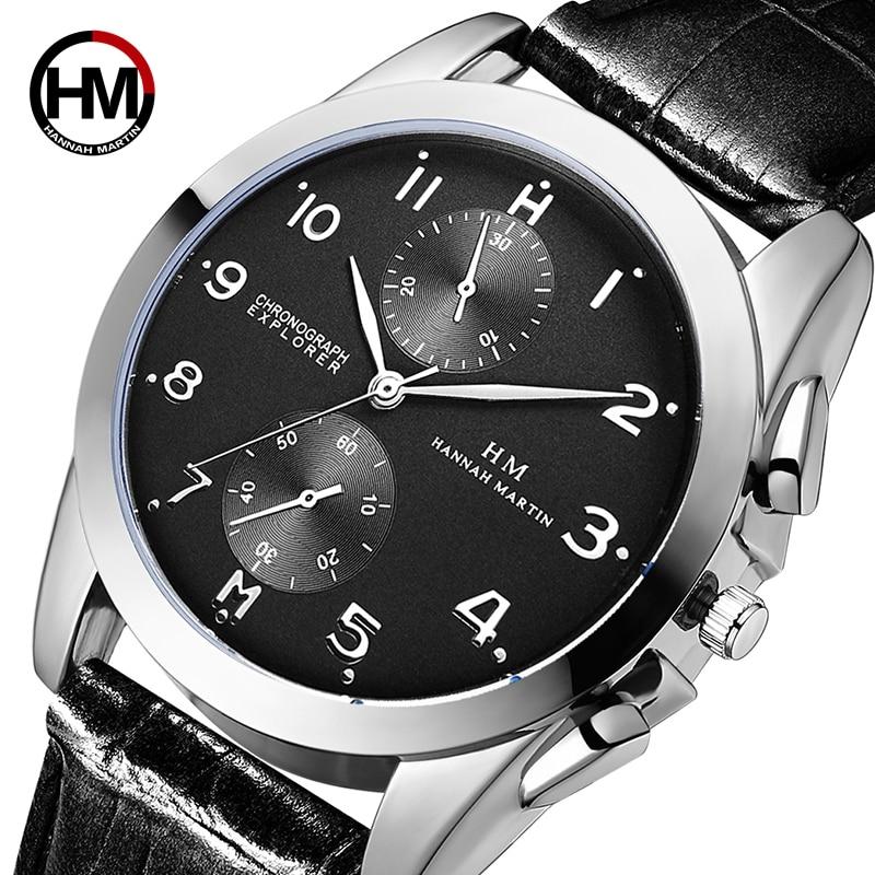 2019 Hannah Martin Top Brand Luxury Watches Waterproof Sport Watch Men Watch Fashion Men's Watch Relogio Masculino Reloj Hombre