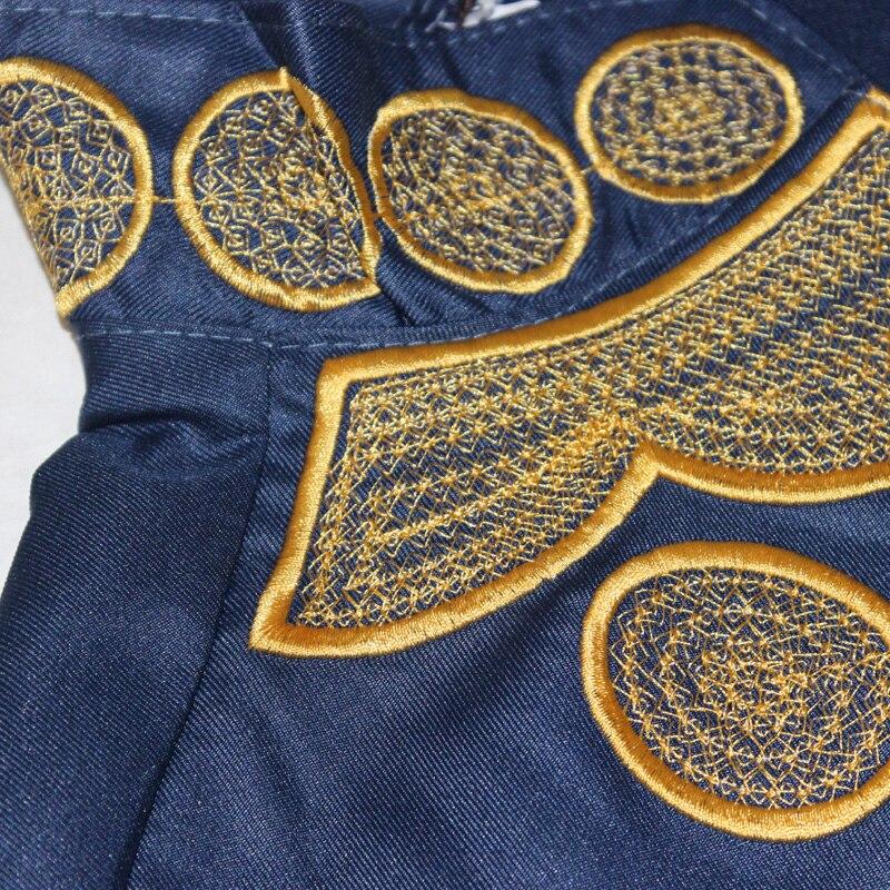 2017 afrika yaz lady maxi dress riche bazin embroiderd gömlek dress - Ulusal Kıyafetler - Fotoğraf 4