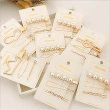 3Pcs/Set Pearl Metal Hair Clip Hairband Comb Bobby Pin Barrette Hairpin Headdress Accessories Beauty Styling Tools New Arrival(China)
