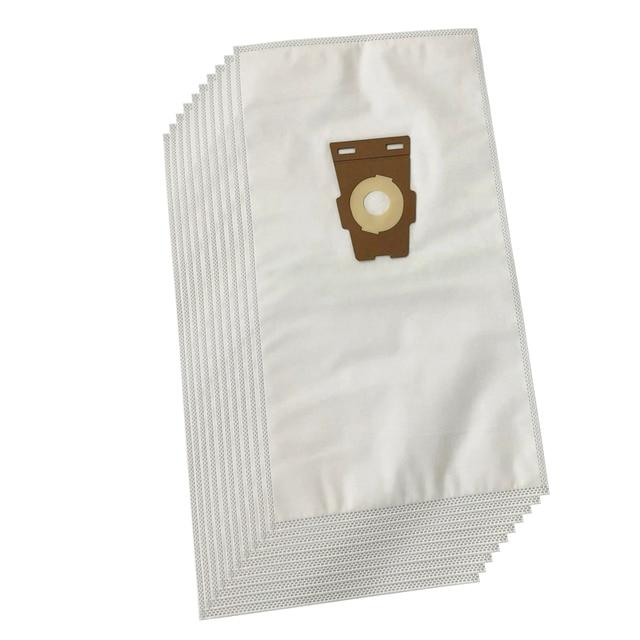 كلينفيري مكنسة كهربائية حقائب متوافقة مع كيربي سنتريا حقيبة عالمية F ستايل هيبا حقيبة قماش أبيض (10 حقائب)