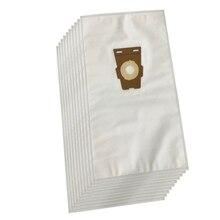 Bolsa para aspirador de pó, de limpeza, compatível com kirby vooria, bolsa universal f style hepa, bolsa de pano branco (10 sacos)