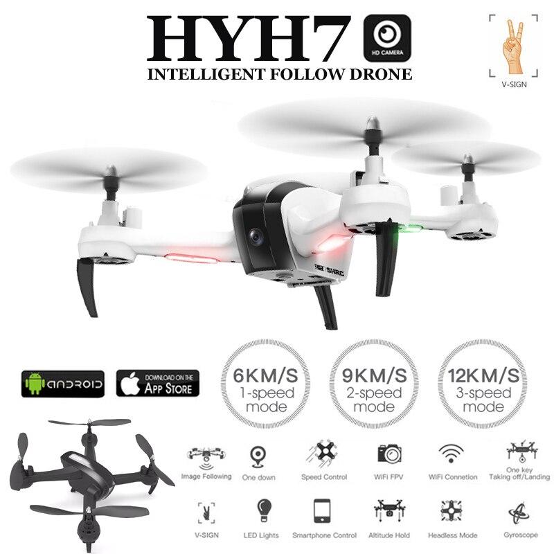 HYH7 5MP Rc Quadcopter Drone con la Macchina Fotografica Seguire Modalità di Controllo Gesto Dron il Mantenimento di Quota Senza Testa Quadrocopter Elicottero vs E58