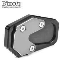 BJMOTO R 1200 RT Motorcycle Side Stand Enlarger For BMW R1200RT 2014-2018 Parking Kickstand Extension Base Plate цена и фото