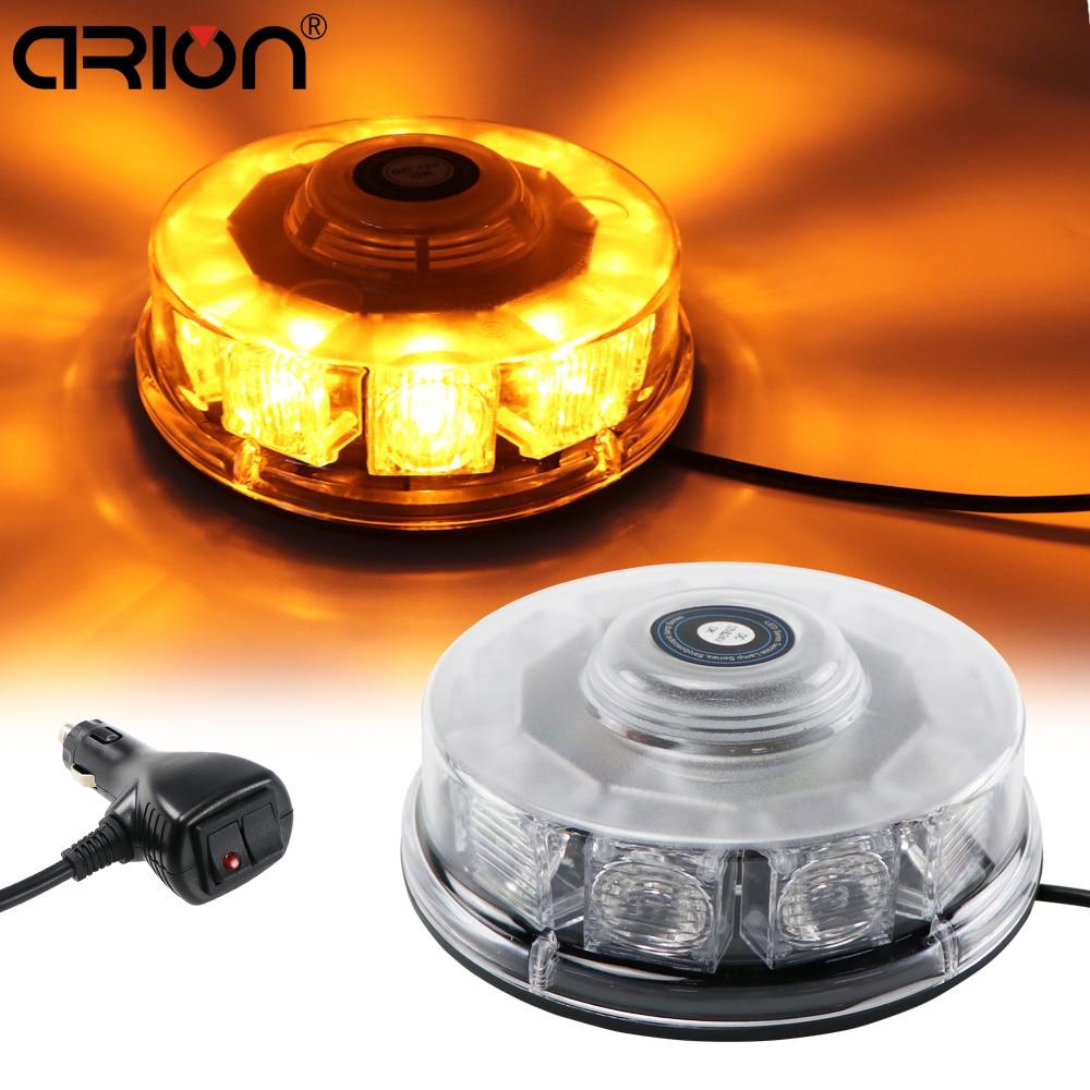 CIRION 12V 10 LED Car Auto LED Mini Lightbar Beacon Emergency Recovery Flashing Warning Strobe Light