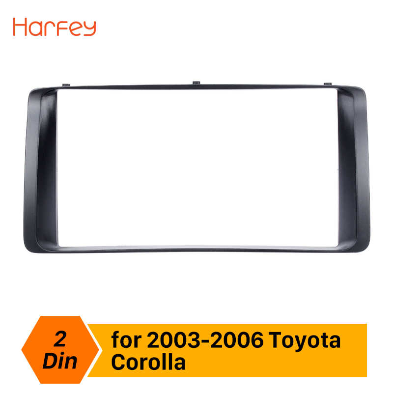 Harfey Car Radio Fascia For 2003 2004 2005 2006 Toyota Corolla Stereo Dashboard Audio Frame CD Trim Bezel Refitting Indash