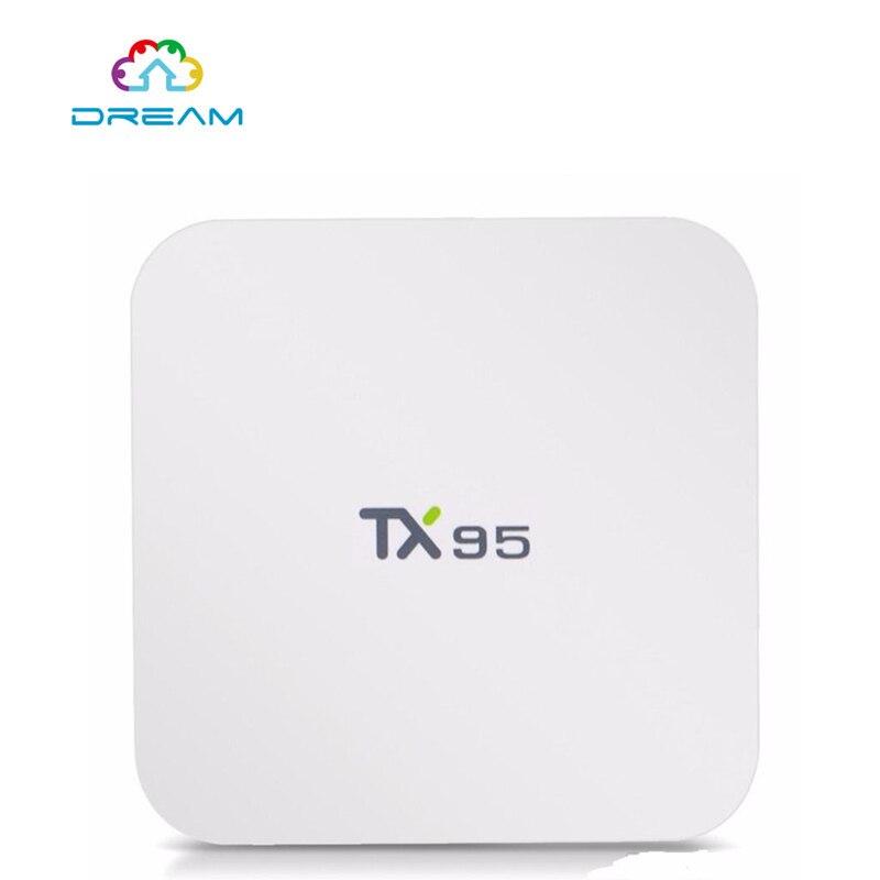 ФОТО Set Top Box TX95 2G 16G Android 6.0 TV Box S905X Quad Core 2.4G/5Dual Wifi  16.1 Bluetooth 4.1 4k 1000M PK X96 T95N
