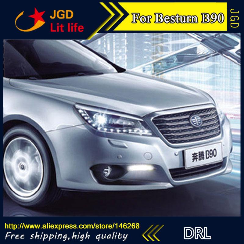 Бесплатная доставка ! 12В 6000K СИД DRL дневного света для besturn В90 противотуманная фара стайлинга автомобилей